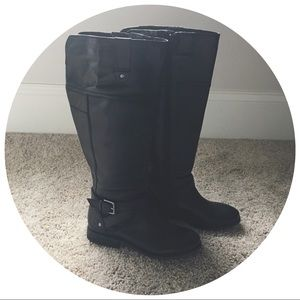 | new | black riding boots